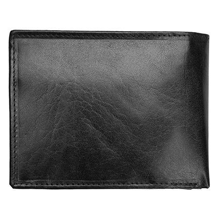 Комплект Pierre Cardin - PCL045X5, портфейл и колан, естествена кожа, черни