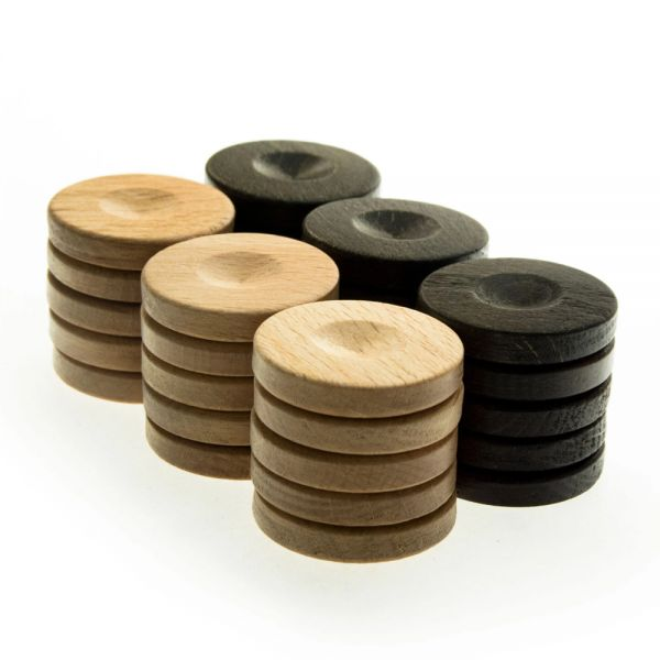 Дървени пулове за табла Manopoulos - 26Х6 мм.